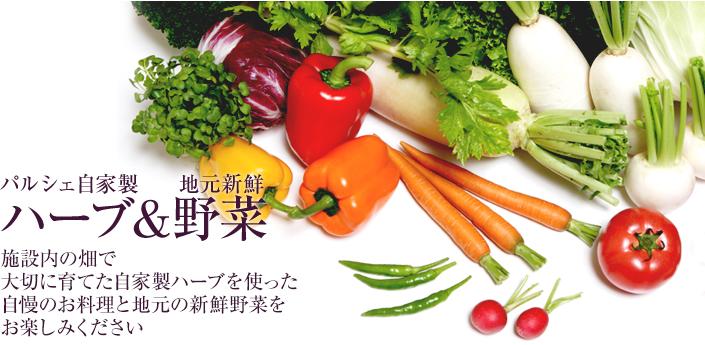 パルシェ自家製ハーブ&地元新鮮野菜